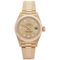 Rolex Ladies Yellow Gold Datejust Automatic Wristwatch Ref 79178, 2001