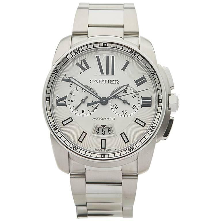 Cartier Stainless Steel Calibre Automatic Wristwatch Ref 3578, 2010s