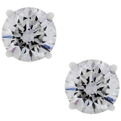 6 Carat Total Diamond Stud Earrings
