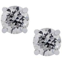 8.05 Carat Diamond Stud Earrings