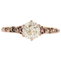 .83 Carat Diamond Rose Gold Engagement Ring