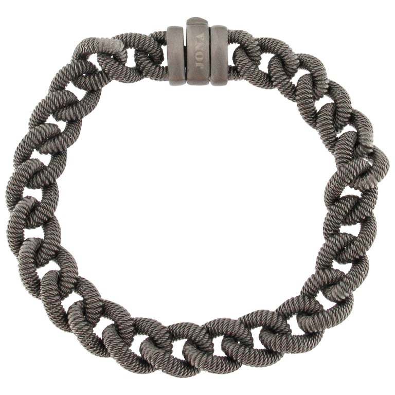 Jona Sterling Silver Curb Link Chain Bracelet