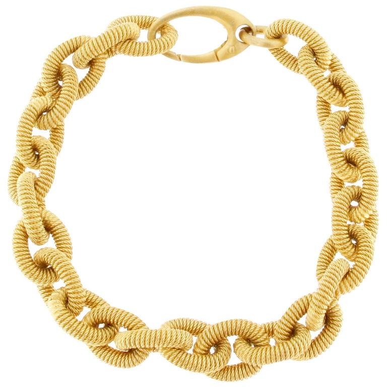 Jona Gold-Plated Sterling Silver Link Chain Bracelet