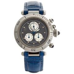 Cartier Stainless Steel Pasha De Cartier Chronoreflex Quartz Wristwatch Ref 1352