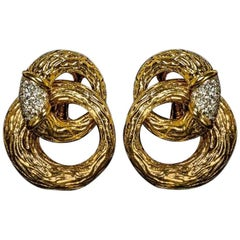 Boucheron 1970s Diamonds and 18 Carat Gold Earrings