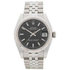 Rolex Ladies White Gold Stainless Steel Datejust Automatic Wristwatch, 2012