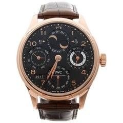 IWC Rose Gold Portuguese Perpetual Calendar Automatic Wristwatch, 2008