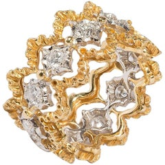 Buccellati Diamonds, 18 Carat White and Yellow Gold Ring