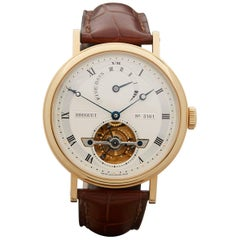 Breguet Yellow Gold Classique Tourbillon Power Reserve Automatic Wristwatch