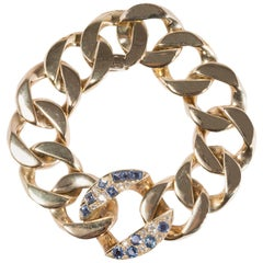 Seaman Schepps 1940s Bracelet in Diamonds, Sapphires and 18 Carat Gold