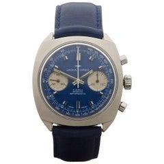 Jaquet Droz Stainless Steel Chronograph Vintage Valjoux 7733 Manual Wristwatch