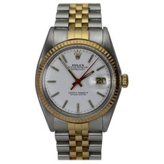 Rolex Yellow Gold Stainless Steel Datejust automatic wristwatch Ref 1601, c1977