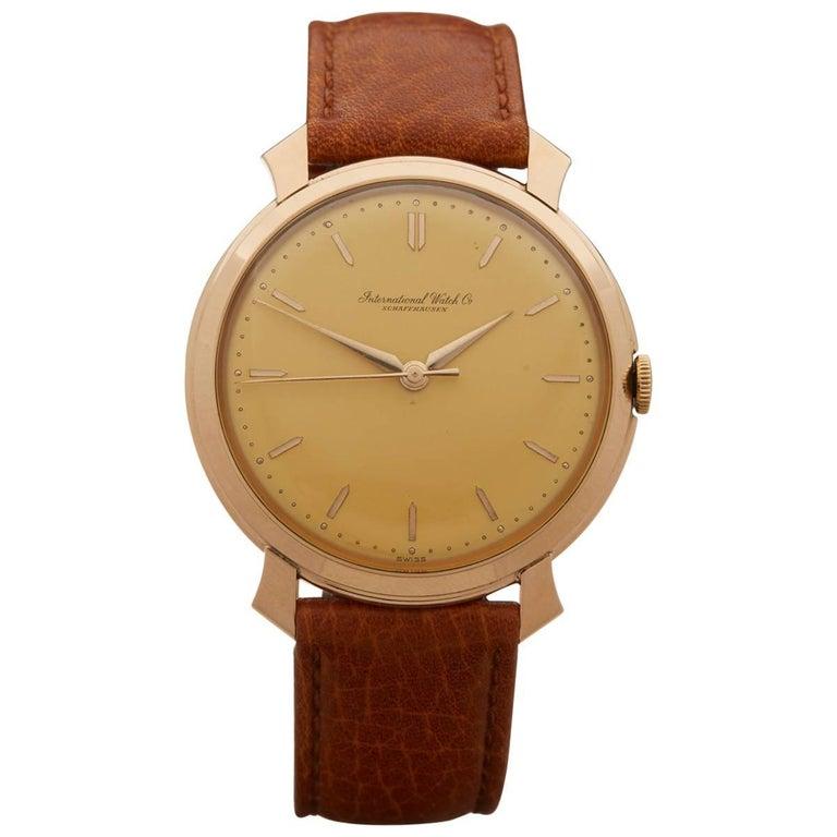IWC Rose Gold Vintage Mechanical Wristwatch, 1960