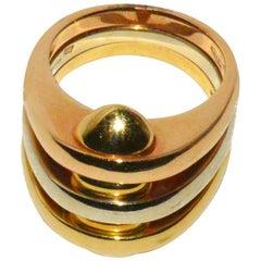 Bulgari Tri-Color Gold Ring