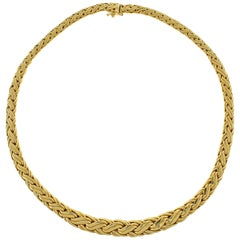 Tiffany & Co. Russian Weave Chain Link Yellow Gold Necklace