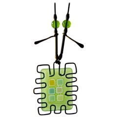 Frances and Michael Higgins Studio Abstract Glass Wire Necklace