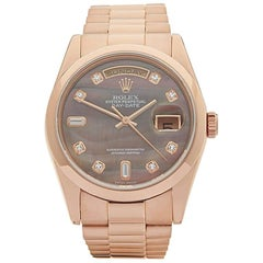 Rolex Rose Gold Day-Date Automatic Wristwatch Ref 118205, 2000