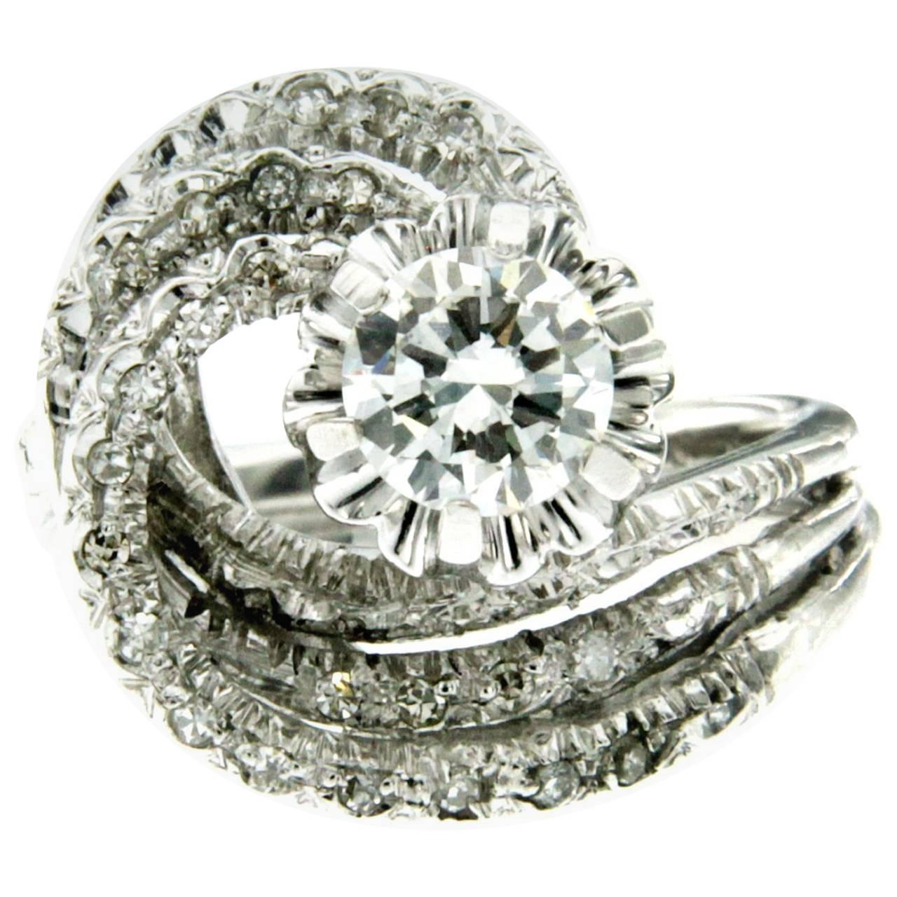 Vintage Diamond Gold Engagement Ring