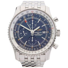Breitling Stainless Steel Navitimer World Chronograph Automatic Wristwatch, 2007