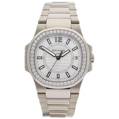 Patek Philippe Ladies White Gold Nautilus Quartz Wristwatch, 2010