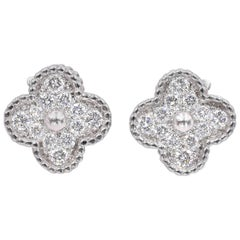 Van Cleef & Arpels Diamond Alhambra Earrings