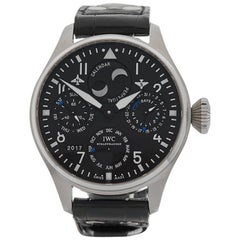 IWC Stainless Steel Big Pilots Perpetual Calendar Automatic Wristwatch, 2012