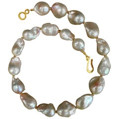 Michael Kneebone Baroque Rose Colored Pearl Necklace