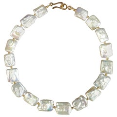 Michael Kneebone White Tile Pearl Necklace