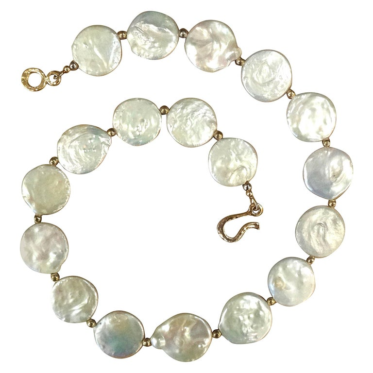 Michael Kneebone White Coin Pearl Necklace