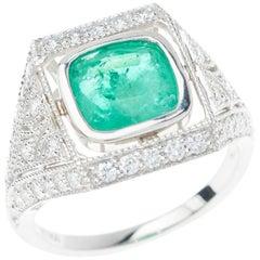 Emerald Diamond Ring 2.42 Carat