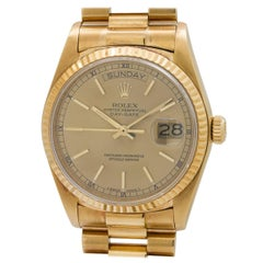 Rolex yellow gold Day Date Automatic Wristwatch ref 18038, circa 1988