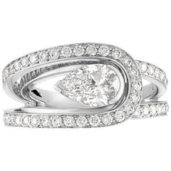 Fred of Paris GIA Certified 0.30 Carat D VVS1 Diamond Platinum Lovelight Ring