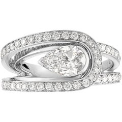 Fred of Paris GIA Certified 1.00 Carat D VS1 Diamond Platinum Lovelight Ring