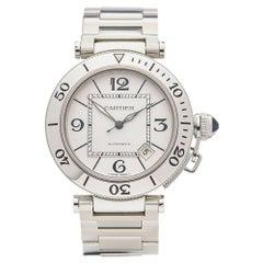 Cartier Stainless Steel Pasha de Cartier Automatic Wristwatch Ref 2790, 2010s