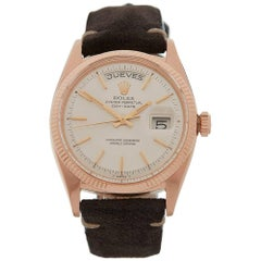 Rolex Rose Gold Day-Date Automatic Wristwatch Ref 6611, 1957