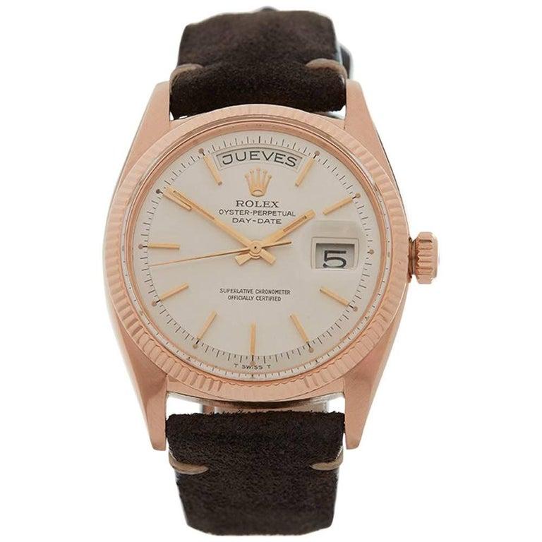 Rolex Rose Gold Day-Date Automatic Wristwatch Ref 6611, 1957