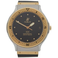 Hublot MDM Yellow Gold Stainless Steel Automatic Wristwatch Ref 1550272, 1990