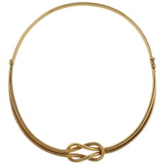 Lalaounis Greece Gold Hercules Knot Necklace