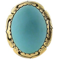 Gold Persian Turquoise Ring
