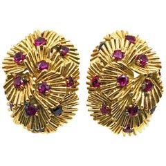 Van Cleef & Arpels Ruby Gold Ear Clips