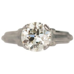 1.23 Carat Diamond Platinum and White Gold Engagement Ring