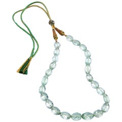 278.73 Carat Prasiolite Beaded Necklace