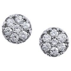 1.65 Carat Diamond Stud Earrings