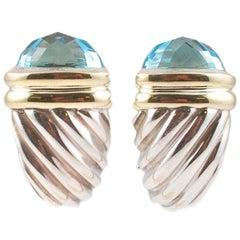 David Yurman Blue Topaz Shrimp Earrings