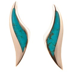 Kabana Yellow Gold Turquoise Earrings