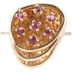 1970 Ruby Yellow Gold Ring