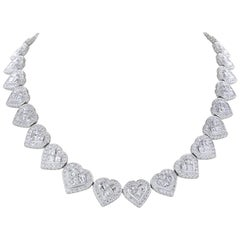 Diamond Heart Shape Eternity Necklace