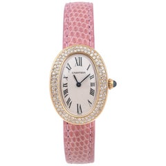 Cartier Ladies Yellow Gold Diamond Baignoire Quartz Wristwatch Ref 8057910