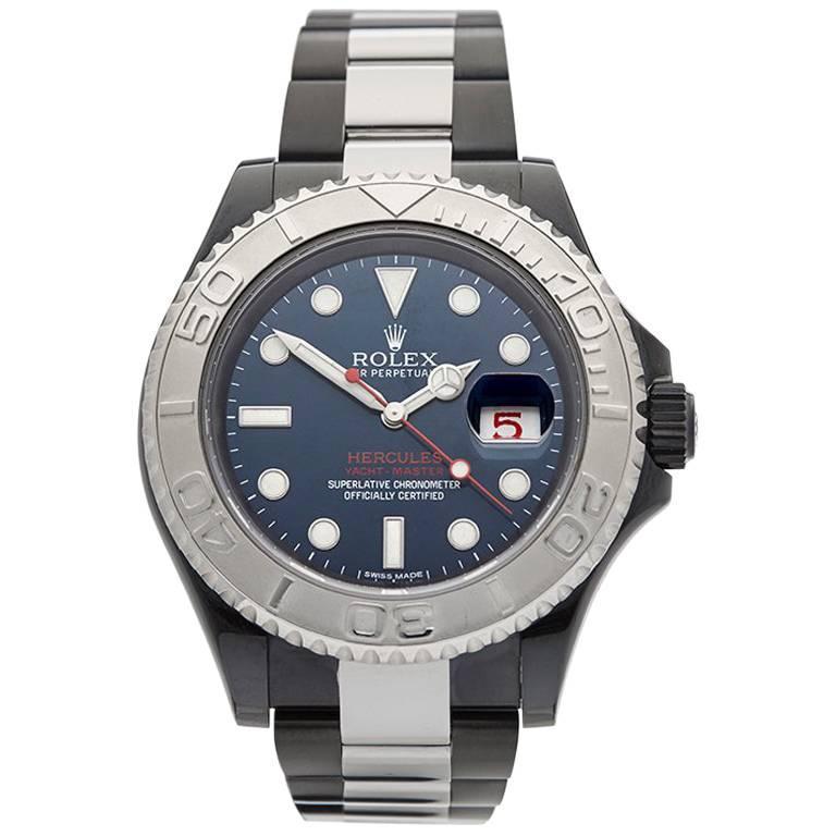 Rolex Stainless Steel Yacht-Master Hercules Custom DLC Coated Wristwatch, 2013