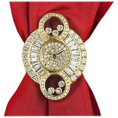 Chopard Ladies Yellow Gold Diamond Set Alta Moda quartz Wristwatch Ref 4694/1